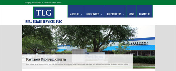 Real Estate Development Services : Tlg real estate services tallahassee web design and