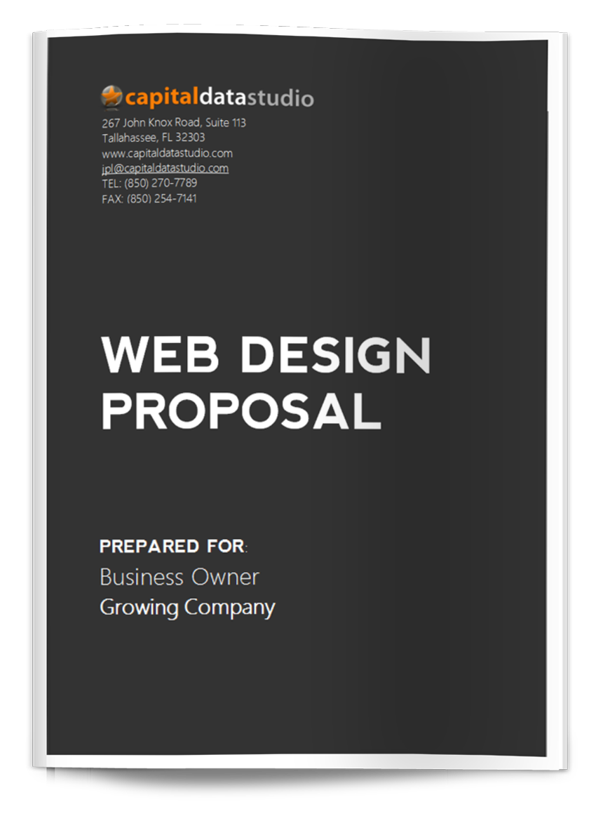 Wordpress Web Design Proposal:  Tallahassee Web rh:capitaldatastudio.com,Design